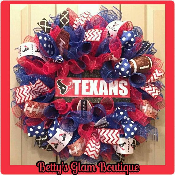 Check out this item in my Etsy shop https://www.etsy.com/listing/563468545/houston-texans-wreath-texans-wreath
