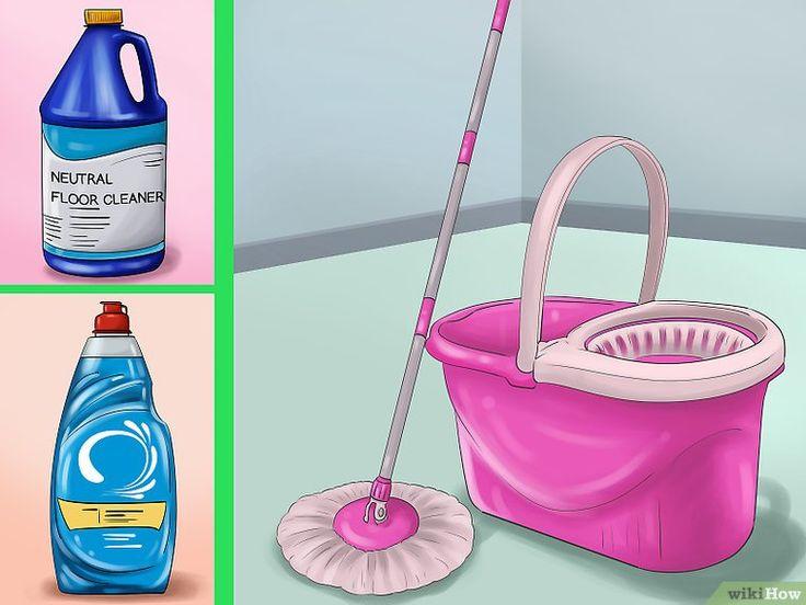 how to clean conrete basement floor