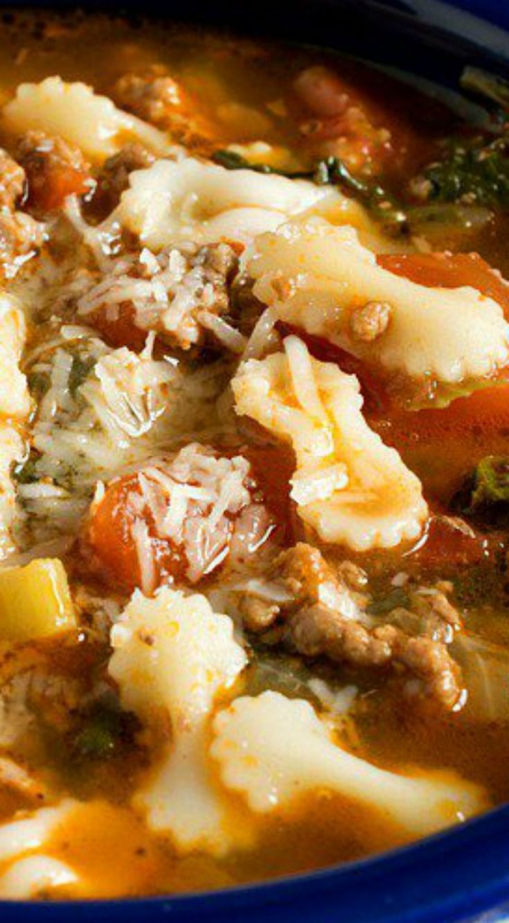 Hamburger Soup ~ Simple and inexpensive to make, but packs a lot of flavor.