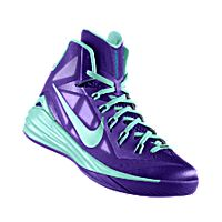 I designed the court purple Nike Hyperdunk 2014 iD men's basketball shoe with hyper turq trim.