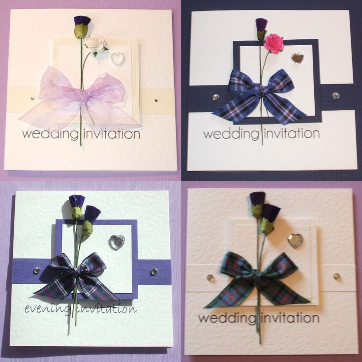 handmade wedding cards ireland%0A Scottish Themed Wedding   click to view larger image  Handmade Wedding  InvitationsCeltic