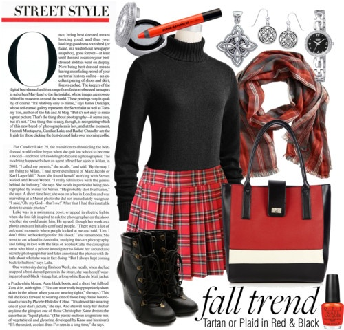 """According to """"Glamour"""", wearing tartan and plaid—especially in bold red-and-black hues—is one fashion trend this fall. We do it vegan style. #vegan #fashion #fall"""