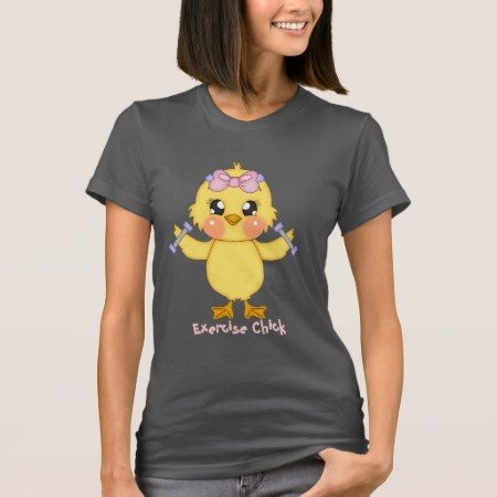 Exercise Chick (customizable) T-Shirt - tap to personalize and get yours
