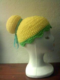 Disney Crochet Hat Patterns | Disney's Peter Pan TINKERBELL Fairy Style Hat.
