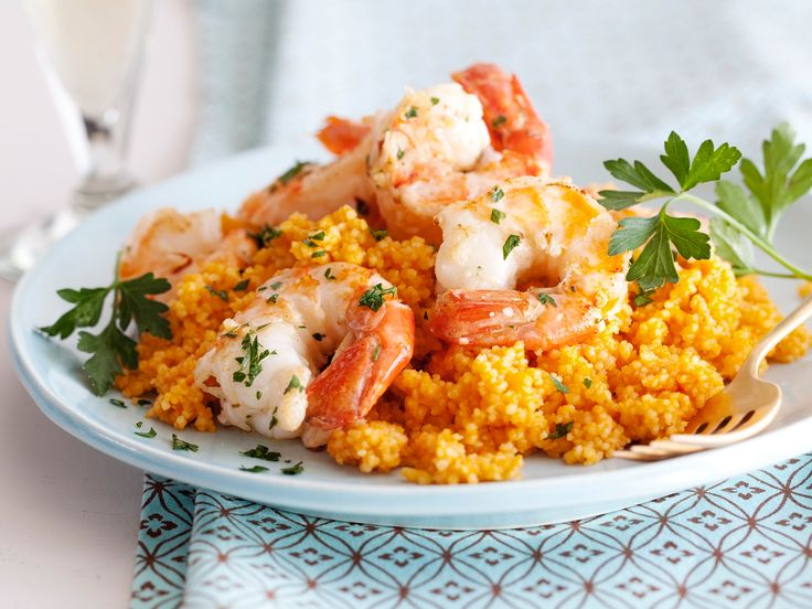 Scampi on Couscous from CookingChannelTV.comAmazing Recipe, Tasty Recipe, Food Network, Giada De Laurentiis, Shrimp Scampi, Couscous Recipes, Eating Healthy, Foodnetwork, Cooking Channel