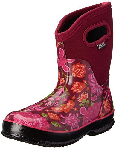 Bogs Winter Boots for Women | Classic Mid Winter Blooms Waterproof Boot | Floral Boots