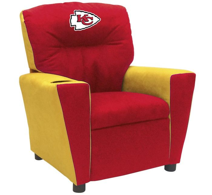 Kansas City Chiefs NFL Tween Fan Favorite Microfiber Recliner - Visit SportsFansPlus.com for more details!