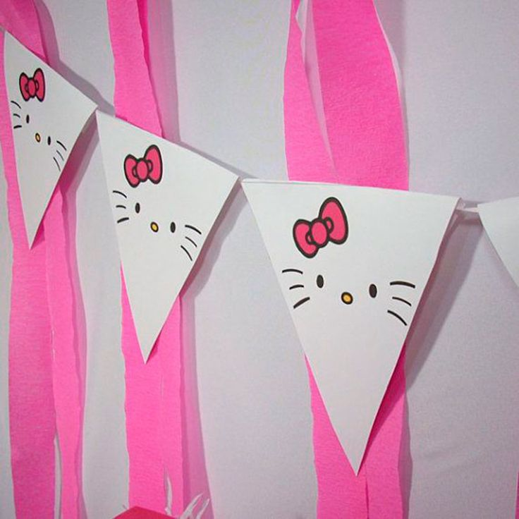 70 inspira es de festas infantis da hello kitty faixas hello kitty e festa infantil - Cortinas de hello kitty ...