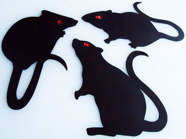 Best Rats Images On   Rats Silhouettes And Halloween