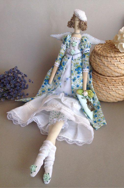 """Купить Тильда"""" Небесно- голубая дымка"""" - тильда, тильда ангел, тильда кукла, тильда фея ♡"""