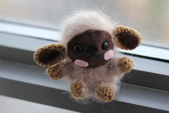 Black Friday 30% off Amigurumi Fuzzy Sheep by PurpleLilacAmigurumi