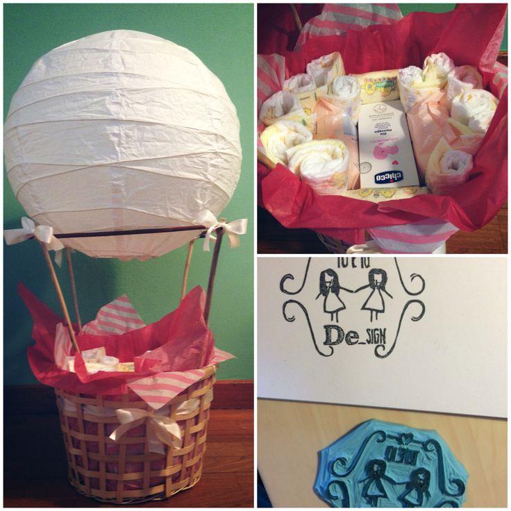Mongolfiera per bebé, per un regalo utile e originale!! Scrivici a tueiodesign@gmail.com, insieme personalizzeremo il contenuto e i colori della tua mongolfiera!