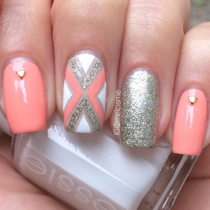 The ✖ nail design by Instagram user melcisme I love love love this color  combo - 86 Best Nails Images On Pinterest Make Up, Pretty Nails And