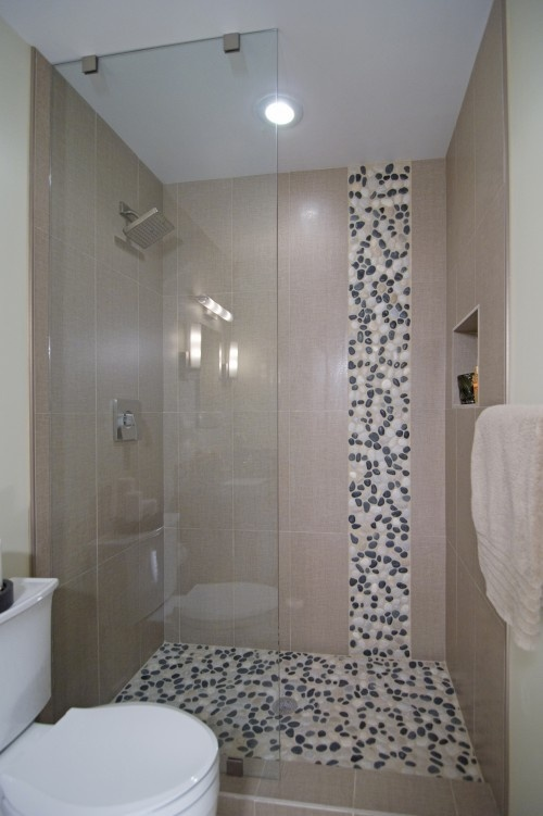 Love The Waterfall Pebble Tile Wanna Do This In My
