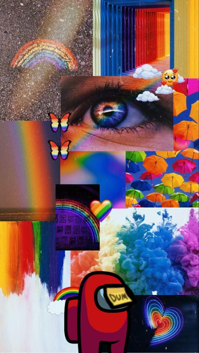 Among Us In 2020 Rainbow Wallpaper Iphone Galaxy Wallpaper Rainbow Wallpaper