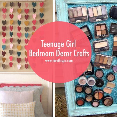 Teenage Girl Bedroom Decor Crafts Girls Wall
