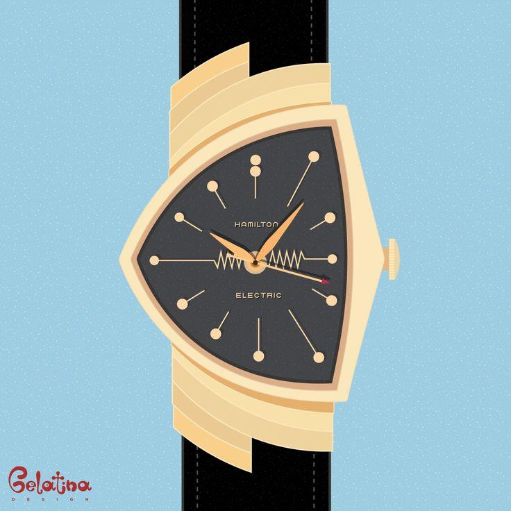 Hamilton Orologi – Grafica  3 gennaio 1957: la Hamilton Watch Company immette sul mercato il primo orologio elettrico. Every Day – GELATINA DESIGN