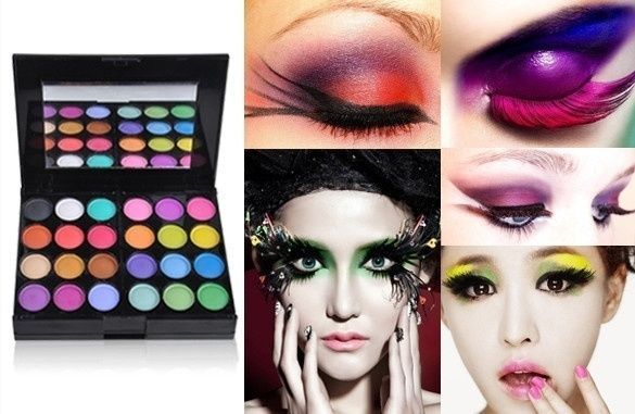 Colorful Eyes Shadow Makeup Cosmetic Shimmer Matte Eyeshadow Lipstick Palette