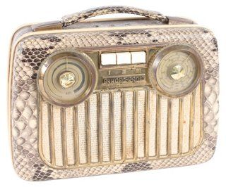 One Kings Lane - From the Personal Warehouse - Faux-Snakeskin Portable Radio