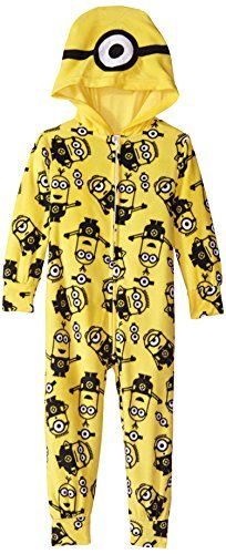 Despicable Me Little Girls' Minion Friends Hooded Blanket Sleeper ** You can get additional details at