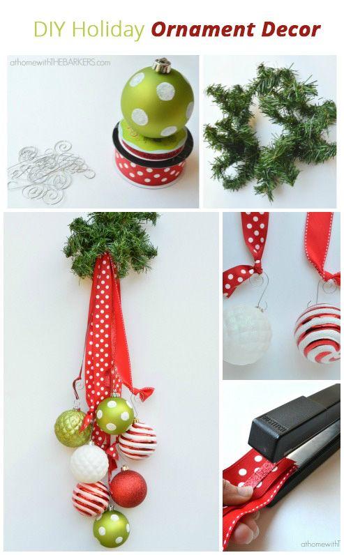 DIY Holiday Ornament Decor.