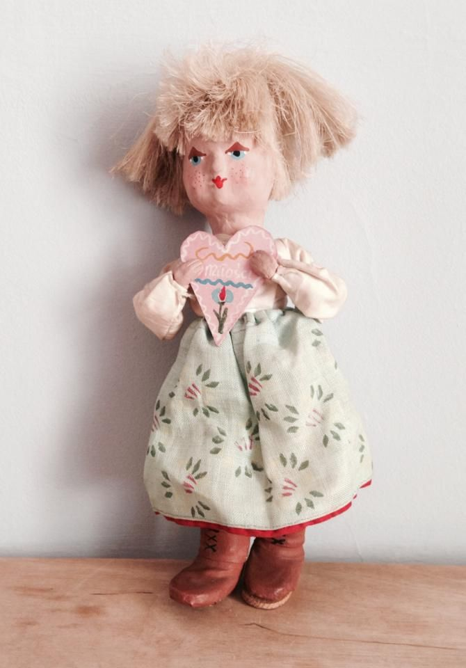 Ręcznie robiona lalka, CEPELIA, lata 60.  #vintage #vintagefinds #vintageshop #forsale #design #midcentury #midcenturymodern #polish #cepelia #toy