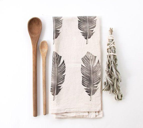 Feather Tea Towel by nativebear on Etsy, $20.00