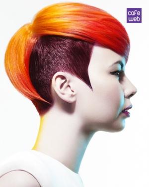 pettinature-capelli-corti-2013-primavera-estate, nuance rosso arancio