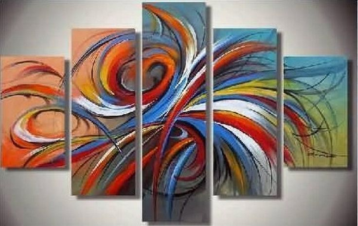 Abstract Art, Abstract Lines Art, Canvas Painting, Large Wall Art, Abstract Painting, Living Room Art, 5 Piece Wall Art, Living Room Wall Art