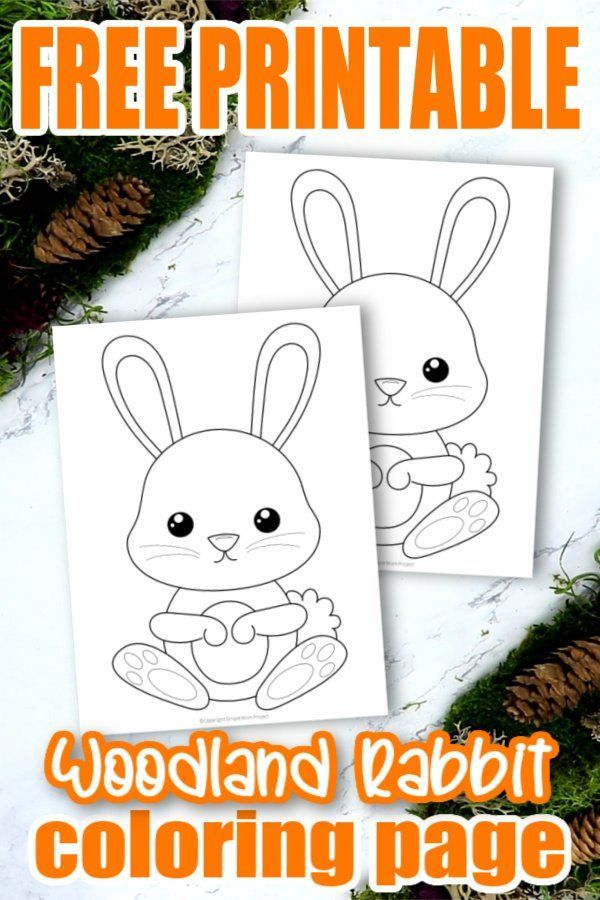 Free Printable Forest Rabbit Coloring Page Simple Mom Project In 2020 Coloring Pages Toddler Coloring Book Rabbit Colors