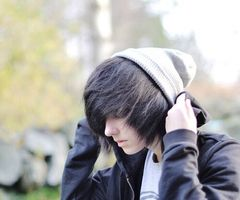 He's Sam, my best and only friend. He's emo like me, and I kind of have a crush on him. Mom says that he's a bad influence and more shit I don't want to hear. ((If someone wants to Rp as him, I would be very happy))