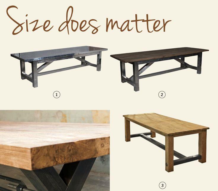 Size does matter! http://www.kaja.nl/cafetafels-restauranttafels