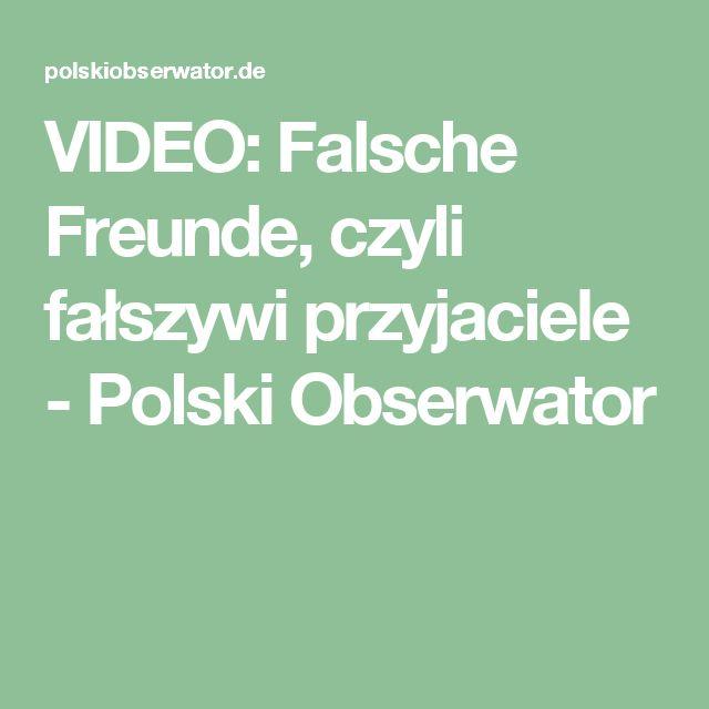 VIDEO: Falsche Freunde, czyli fałszywi przyjaciele - Polski Obserwator