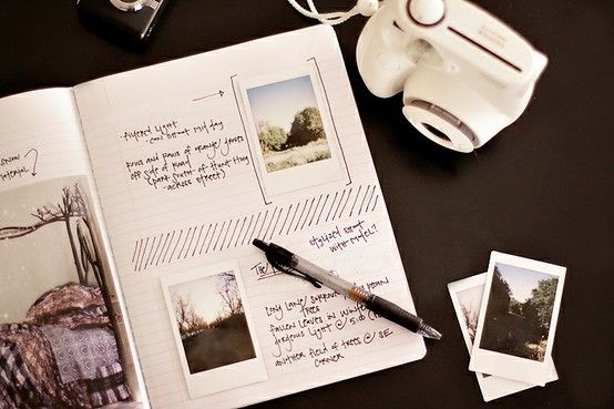 Instax and 'zine tears for a diary.