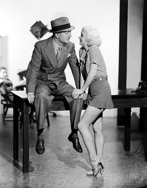 Jean Harlow and William Powell...they were engaged to be married at the time of her death.