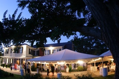 Lewis Ginter Botanical Garden Bloemendaal House outdoor tented reception. Richmond, VA
