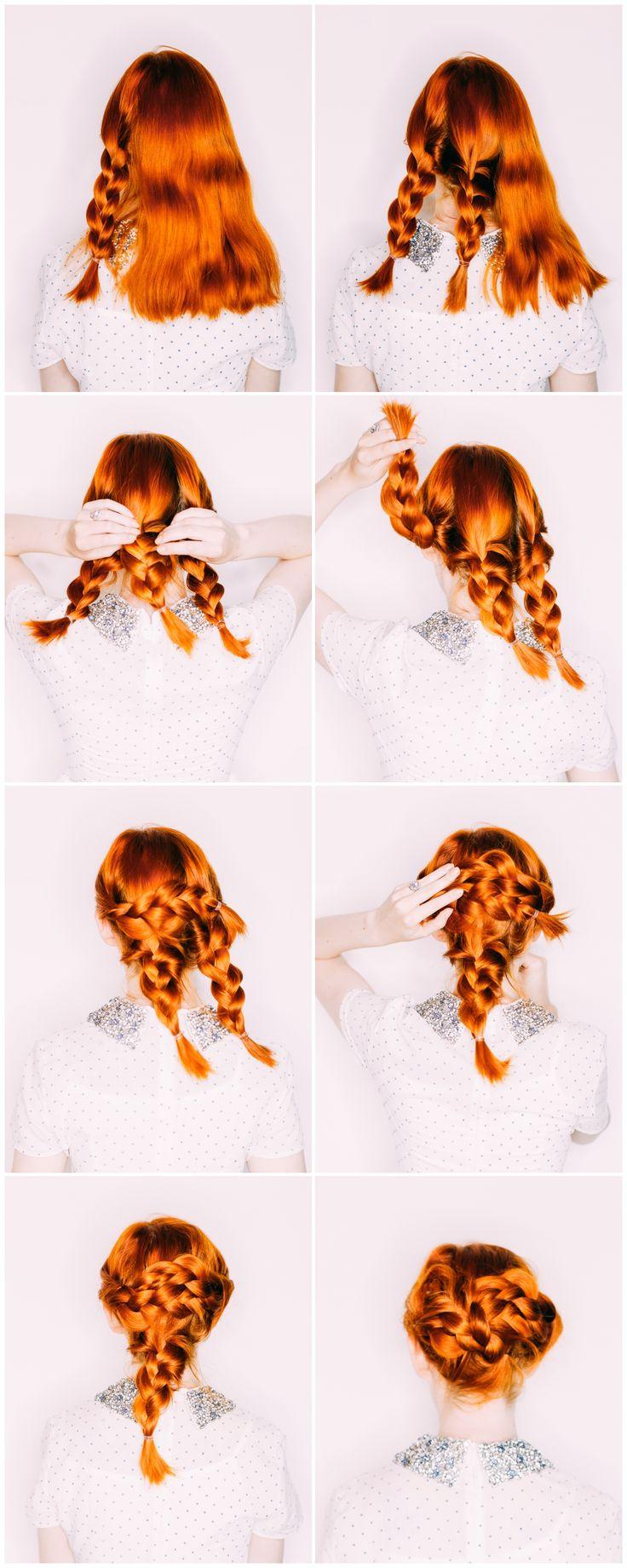 Easy Wedding Hair— a Triple Braided Updo – A Beautiful Mess