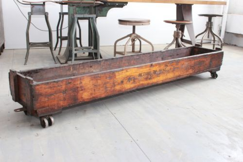 vintage industrial antique cart coffee table machine age factory