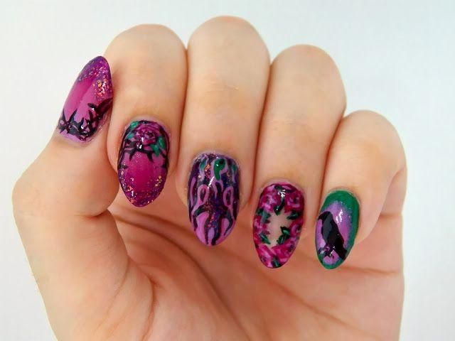 Halloween Nails - Disney Maleficent Nail Art - Pretty (Squared)