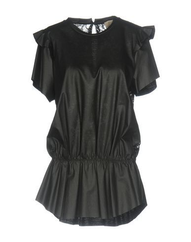 NUDE Women's T-shirt Black 10 US