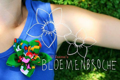 simpel bloempatroon voor broche #patterns #broche