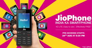 #Jio #Phone #Booking #Advance #booking has #crossed #50 #million