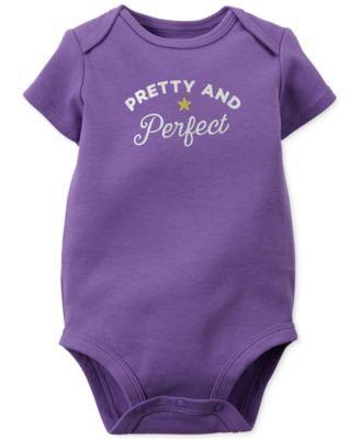Carter's Baby Girls' Purple Bodysuit