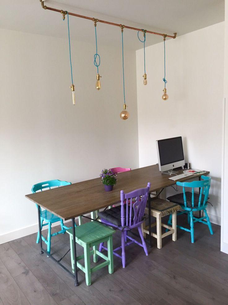 25 beste idee n over zelfgemaakte lampen op pinterest - Keuken recup ...