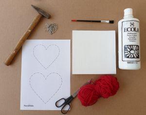 Zacht spijkerhart om zelf te maken voor Moederdag of Valentijn