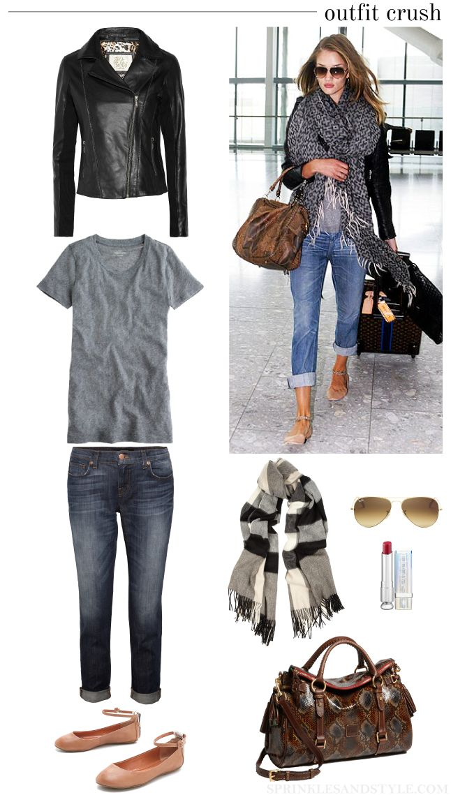 Airport Style. Flats for easy on and off at TSA. #monogramsvacation