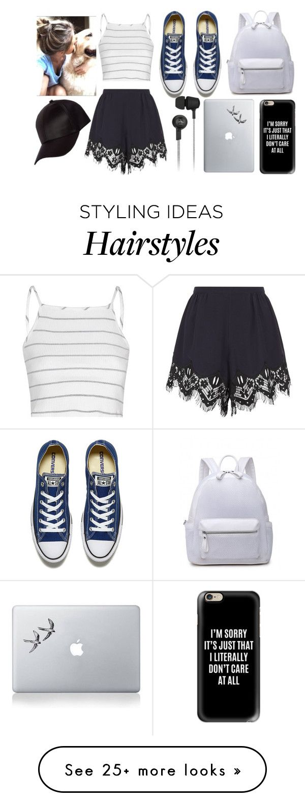 """Messy hair don't care-Travel Look"" by rubyxxvelvet on Polyvore featuring Glamorous, Chloé, Converse, Vinyl Revolution, Casetify, Original Penguin and River Island"