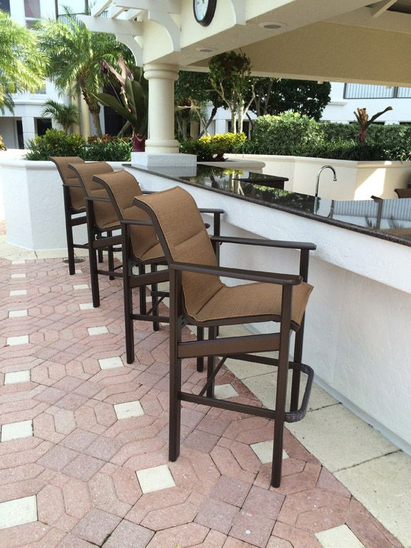 Great Hampton MGP Bar Chairs Provide A Comfortable Seat At The Poolside Bar At  The Biltmore Hotel In Naples. American Made Outdoor Furniture By Windward U2026
