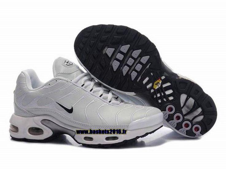 official photos 26725 333af ... blanche femme  Nike Air Max Tn Requin Tuned 1 Chaussures Baskets2016  Pas Cher Pour Femme Gris - Noir ...