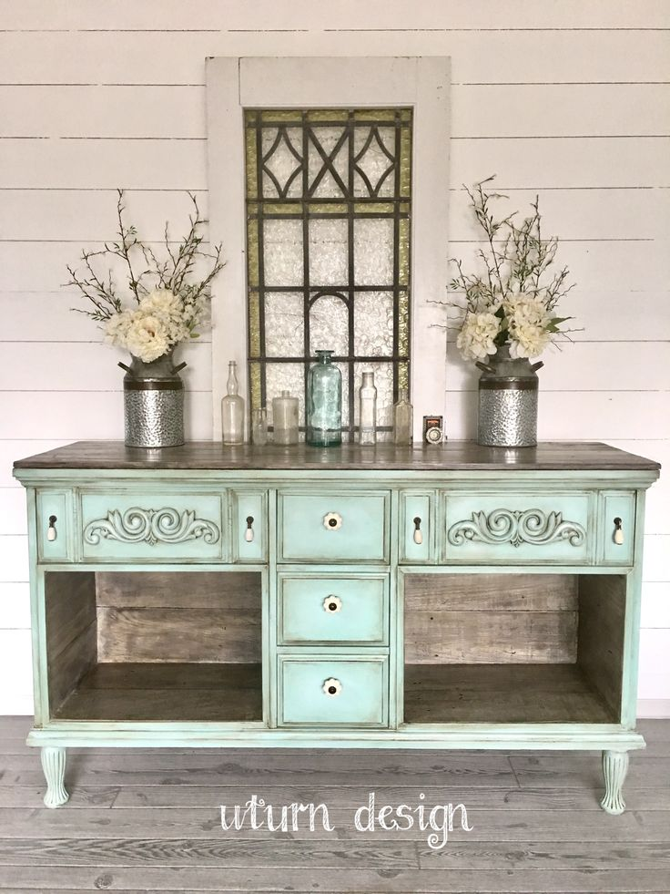 Marvelous Painted Farmhouse Buffet By UTurnDesign More